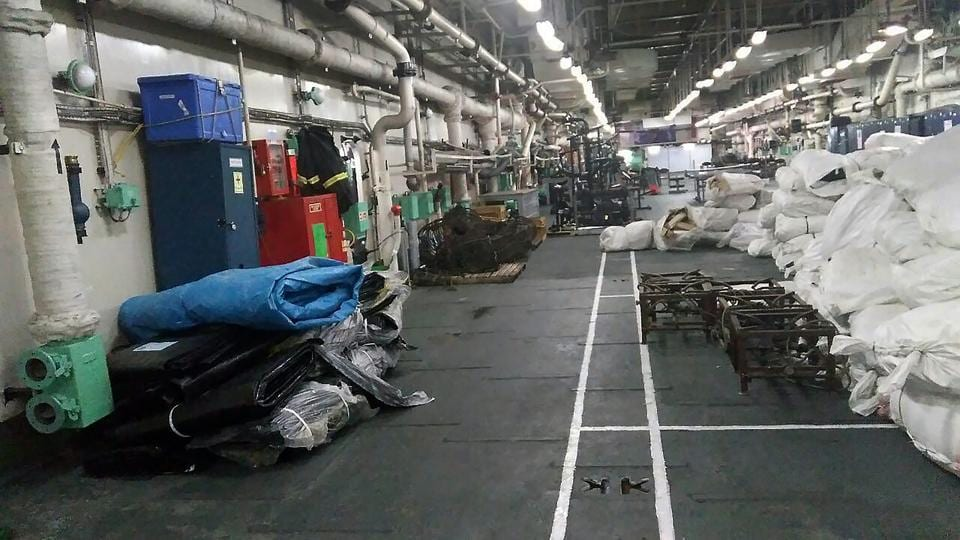 "Naval ships like  INS Shardul loaded with humanitarian assistance and disaster relief (HADR) material sailed out of Kochi port on Friday night for cyclone Ockhi relief. ""It (Ockhi) is likely to move north-northeastwards, weaken gradually and cross south Gujarat and north Maharashtra coasts by early Tuesday morning and settle as a deep depression,"" IMD's director general KJ Ramesh said. (PTI)"