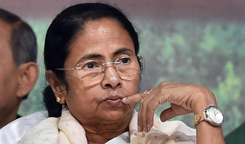 Kolkata: West Bengal Chief Minister Mamata Banerjee during the foundation stone laying ceremony of West Bengal Lagislative Assembly Platinum Jubilee Memorial Building in Kolkata on Wednesday. PTI Photo by Ashok Bhaumik (PTI11_29_2017_000172A)