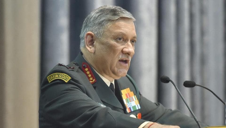 Army chief General Bipin Singh Rawat speaks at a seminar titled 'Future Armoured Vehicles India-2017' at the DRDO Bhawan in New Delhi recently.