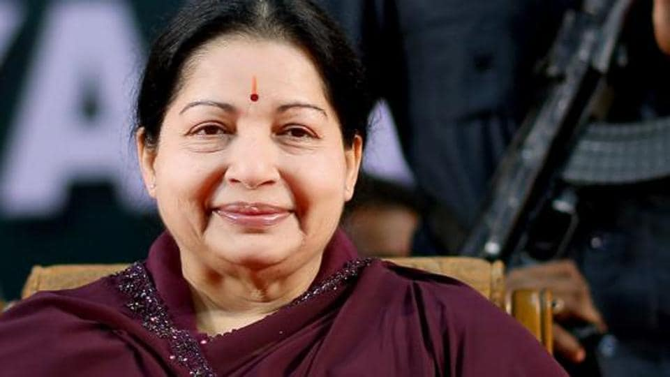 A file photo of late Tamil Nadu chief minister and AIADMK chief J Jayalalithaa