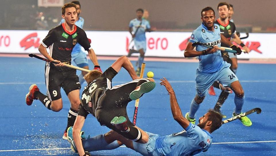 India were defeated by Germany in their Hockey World League Final encounter.