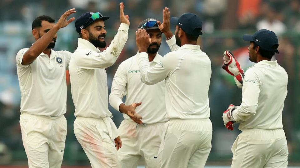 Though the first two sessions belonged to Sri Lanka, India made a brilliant fightback in the last session of Day 3 to reduce Sri Lanka to 356/9 and still lead by 180 runs in the third Test being played at the Feroz Shah Kotla in New Delhi. (BCCI)