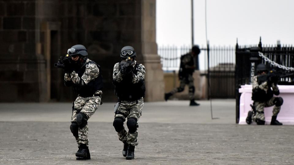 Here, Navy personnel perform a simulated attack and hostage rescue operation at Gateway of India. (Kunal Patil/HT)