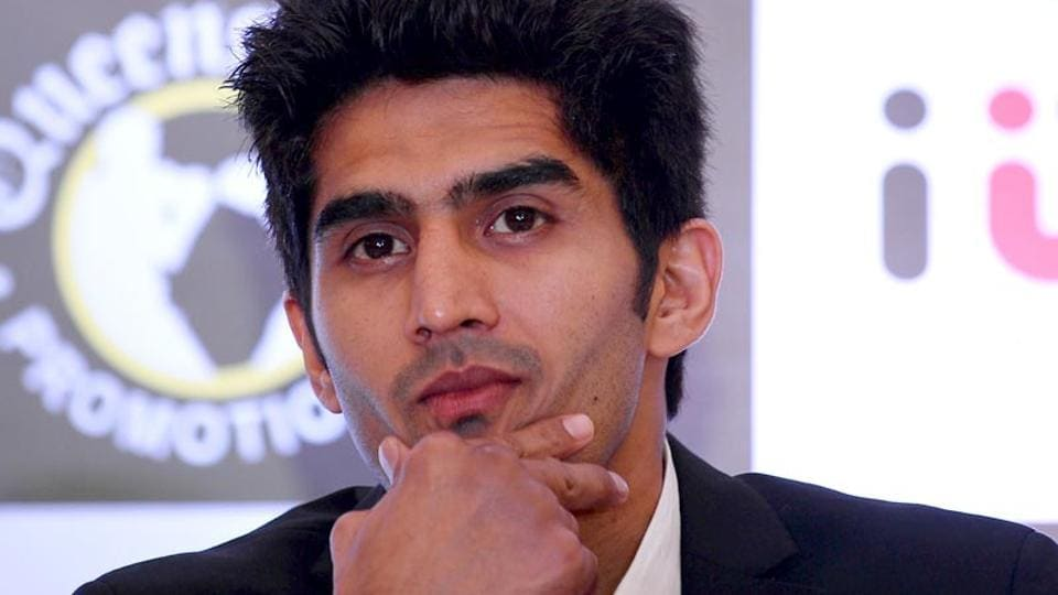 Vijender Singh will defend his WBO Oriental & Asia Pacific Super Middleweight title against Ghana's Ernest Amuzu in Jaipur on December 23.