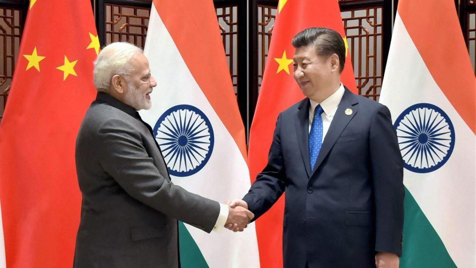 File photo of Prime Minister Narendra Modi meeting Chinese President Xi Jinping on the sidelines of the Brics Summit in Xiamen, China.