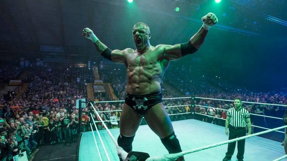 WWE wrestler Paul 'Triple H' Levesque during a match. He is part of a 'supershow' in Delhi on December 9.