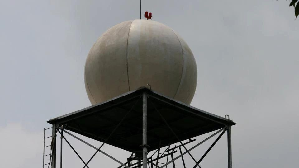 The radar located at the Regional Meteorological Centre in Colaba can carry out weather surveillance at a distance of 300km radius from its location