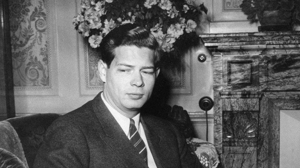 This file photo taken on January 08, 1948 shows former Romanian King Michael the First of Romania, posing for a photograph in Lausanne.