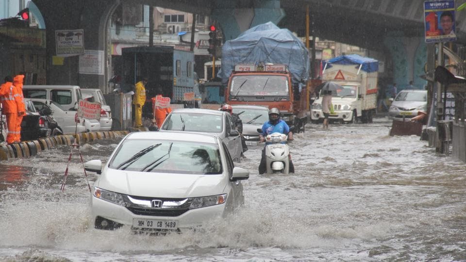 Water logged Hindmata streets in August this year.