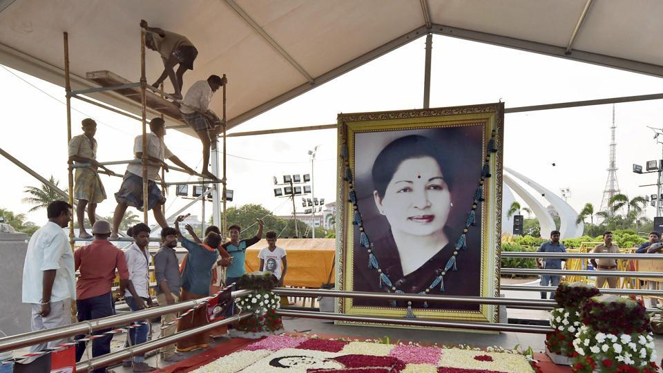 Preparations in full swing for Tamil Nadu chief minister J Jayalalithaa's first death anniversary.