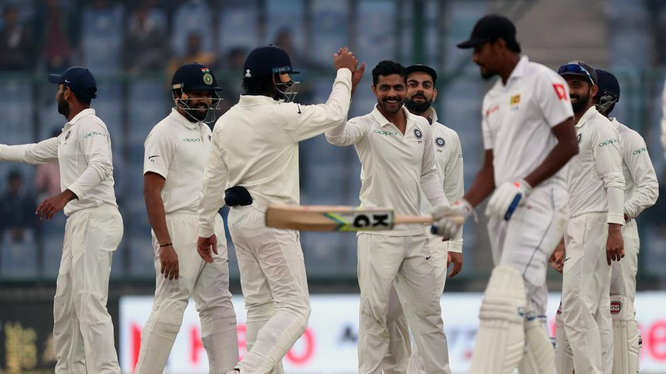 Ravindra Jadeja's twin strikes at the end of the day put Virat Kohli's Indian cricket team on course for a record equalling ninth consecutive series win as they closed in on a win against Sri Lanka at the Feroz Shah Kotla. (BCCI)
