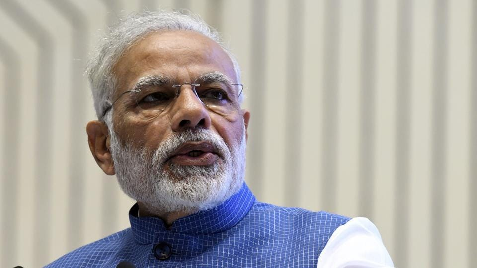 Prime Minister Narendra Modi was set to address the public rally at 6pm on Wednesday