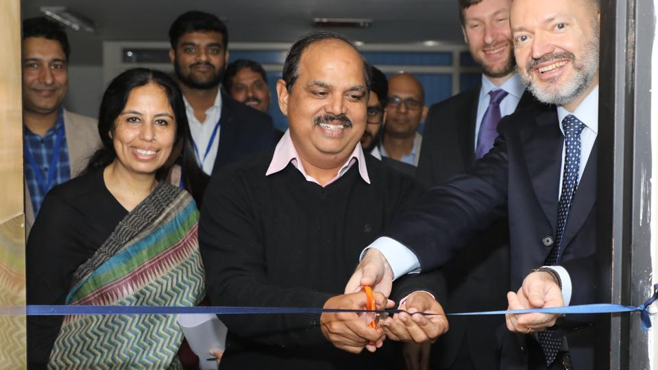 Dr Jatinder Kaur Arora, executive director, PSCST, Dr Roshan Sunkaria, principal secretary, science and technology, Punjab, and Andrew Czajkowski, head, innovation and tech support division, WIPO, inaugurating India's first Technology and Innovation Support Centre at Chandigarh.