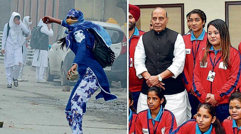 Rajnath Singh,Home minister,Srinagar