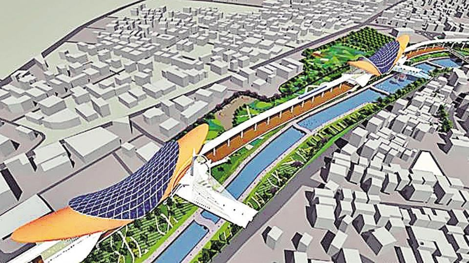 Conceptual design of the Metro station released by Maha-Metro.