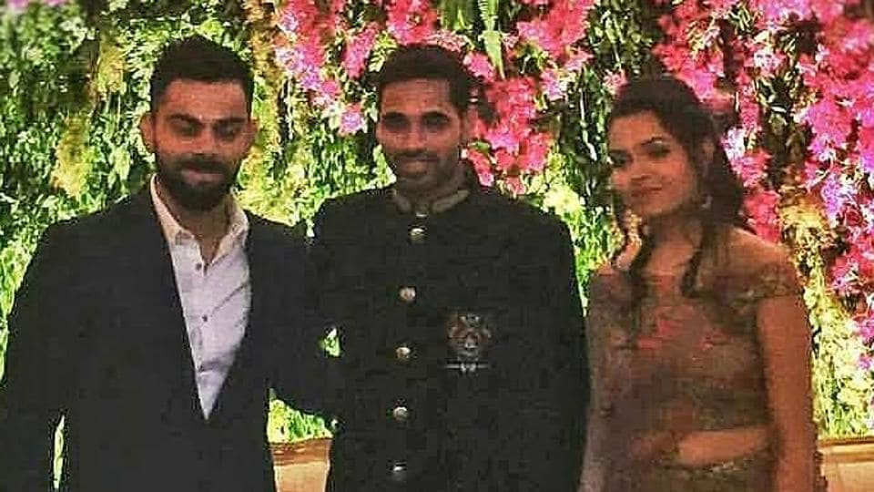 Image result for bhuvneshwar kumar wedding reception team india