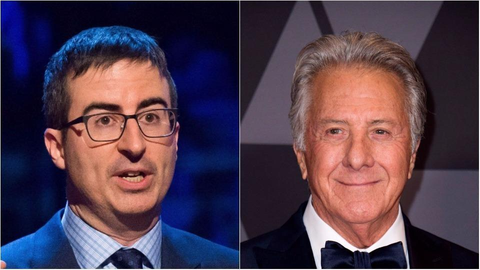 Jon Oliver is being praised online for confront Dustin Hoffman about the sexual assault allegations.