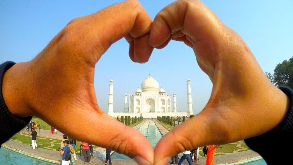 The Taj Mahal, India's iconic ivory-white marble mausoleum in Agra, is the second best UNESCO world heritage site in the world.