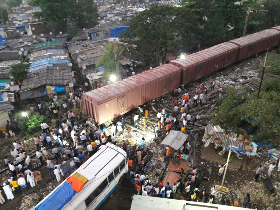 The train derailed at 3.43pm near Diva junction.