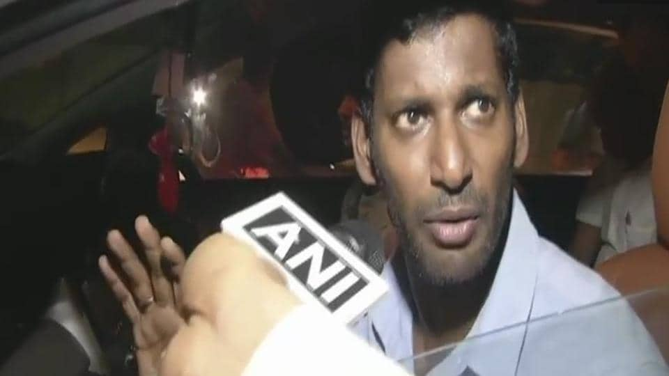 The poll body said a candidate must to be proposed by 10 persons, but in the case of Vishal (pictured) only eight valid proposers had endorsed his candidature.
