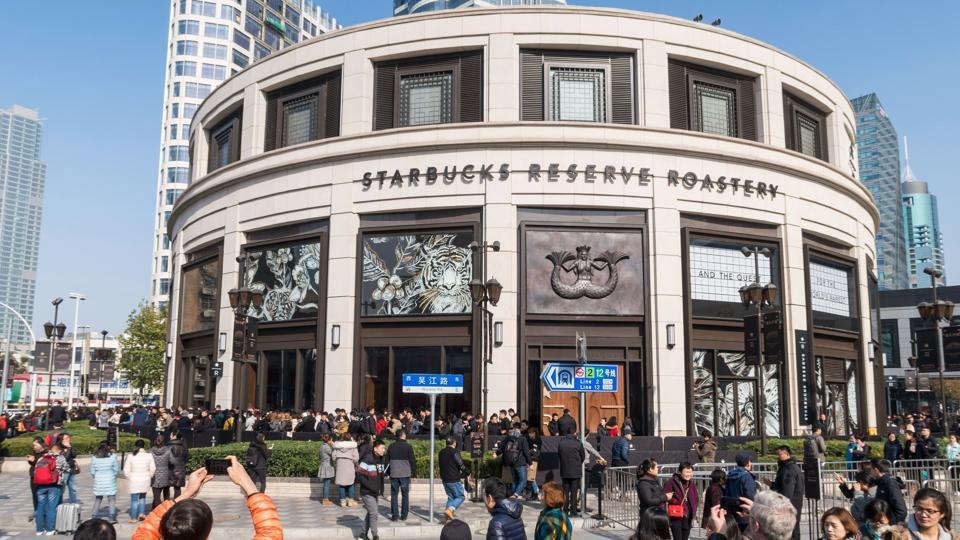 Starbucks opened its largest cafe in the world in Shanghai on December 6.