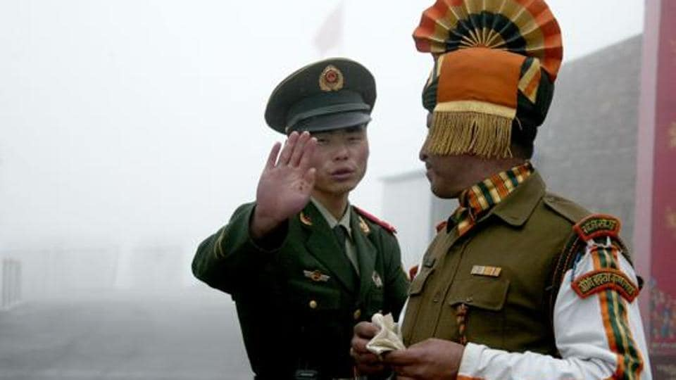 Indian and Chinese troops were in a face-to-face situation near the Sikkim sector of the international border after the Chinese People's Liberation Army tried to build a road in Doklam in mid-June.