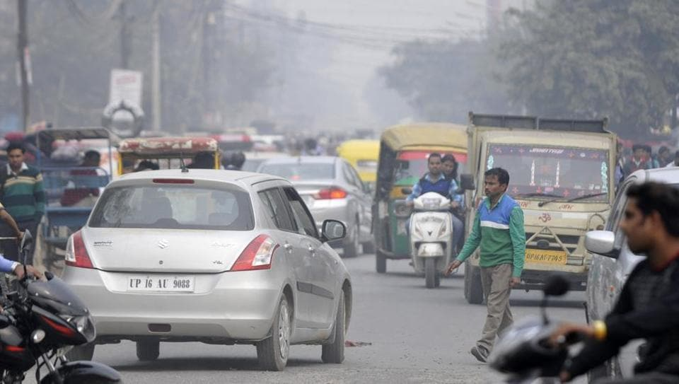 The AQI in Noida touched 411 on Tuesday, with the major pollutant being PM2.5. On Monday, the AQI was at 403.