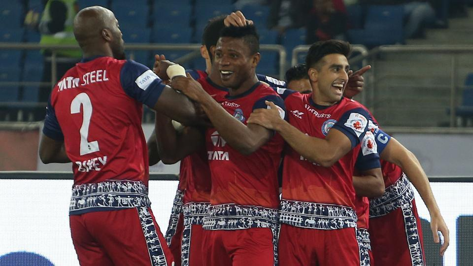 Izu Azuka scored the solitary goal of the ISL game for Jamshedpur FC in their 1-0 win over Delhi Dynamos.
