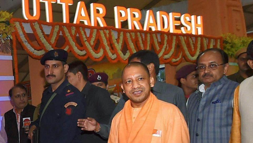 Uttar Pradesh chief minister Yogi Adityanath at the 37th India International Trade Fair (IITF) at Pragati Maidan in New Delhi.