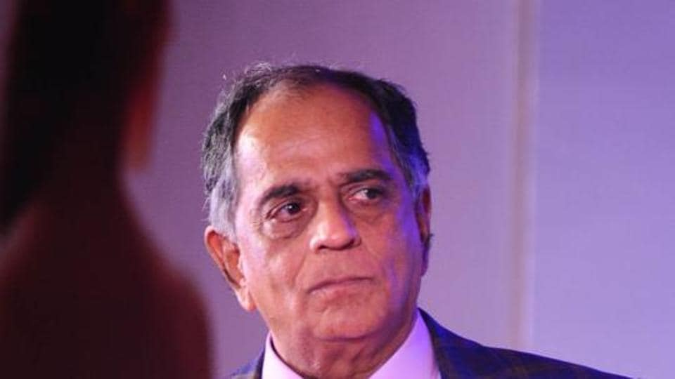 Indian Bollywood producer Pahlaj Nihalani attends the trailer launch of Julie 2 in Mumbai.