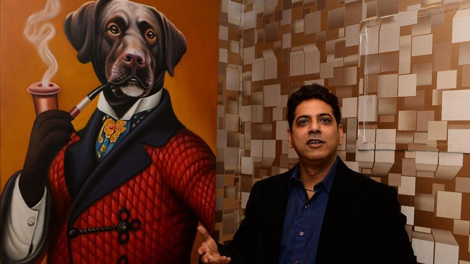 "Deepak Chawla, owner and chief executive officer (CEO) of Critterati, speaks to AFP during an interview.Chawla opened Critterati to offer the wealthy an alternative to the dilapidated facilities in India. ""No decent dog owner would want his dog to stay in those places,"" he said. (Sajjad Hussain / AFP)"