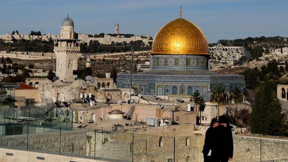 A general view shows the Dome of the Rock and Jerusalem's Old City December 4.