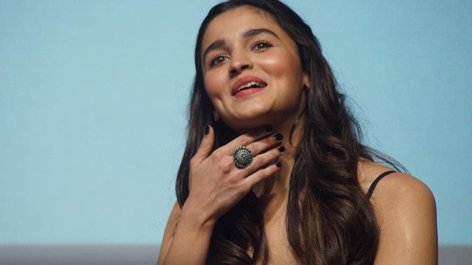 Alia Bhatt during the 48th International Film Festival of India (IFFI-2017) in Panaji on Nov 27, 2017.