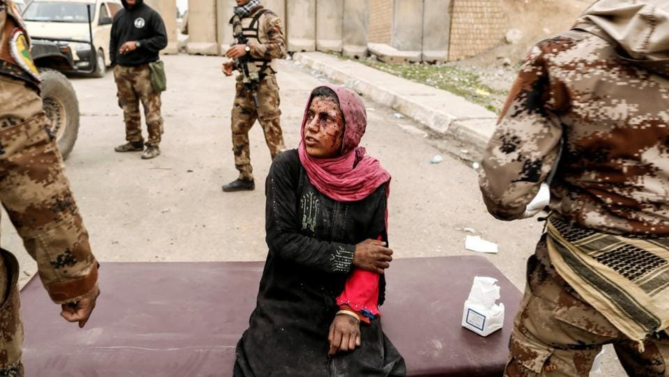 A woman injured in a mortar attack is treated by medics as Iraqi forces battle with Islamic State militants, in western Mosul. The victors in Iraq and Syria now face new challenges as they rebuild cities shattered by the showdowns. Kurdish groups who led the fight against ISIS in its former bastions now navigate a complex peace to avoid ethnic tension with Arab majorities. Meanwhile, life for the liberated residents remains fraught with risk. (Zohra Bensemra / REUTERS)