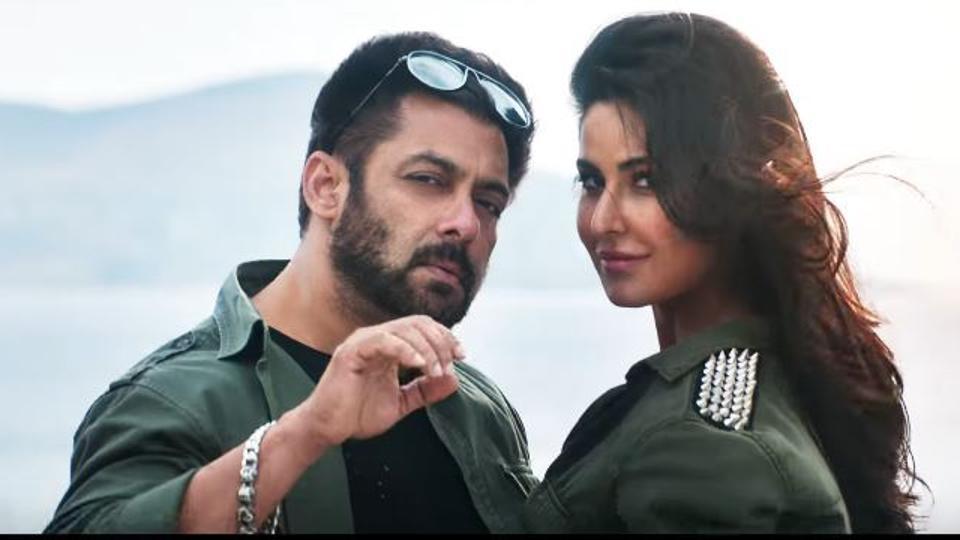 Salman Khan and Katrina Kaif in a still from Tiger Zinda Hai song Swag Se Swagat.