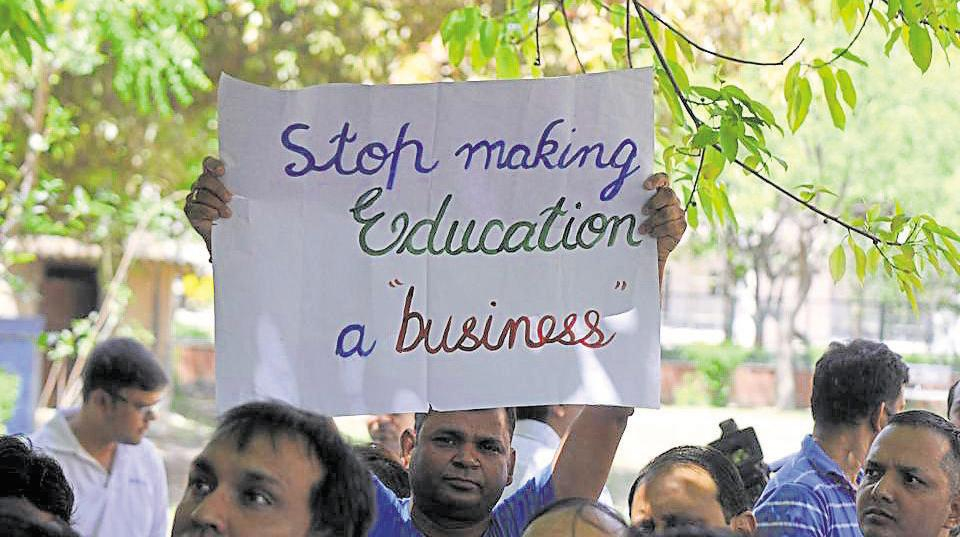 The committee was formed after parents protested against the alleged exorbitant fee hikes by schools.
