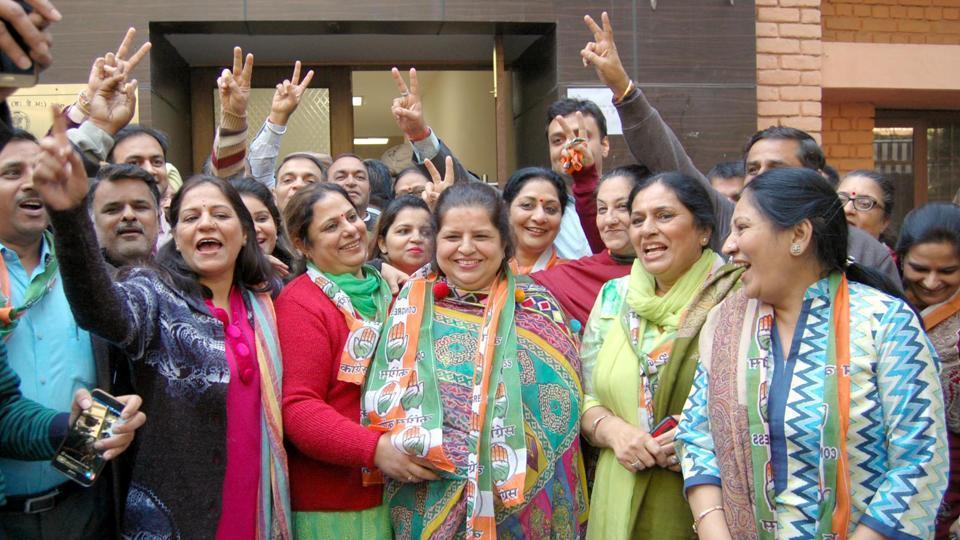 Akalis,Punjab civic polls,Congress