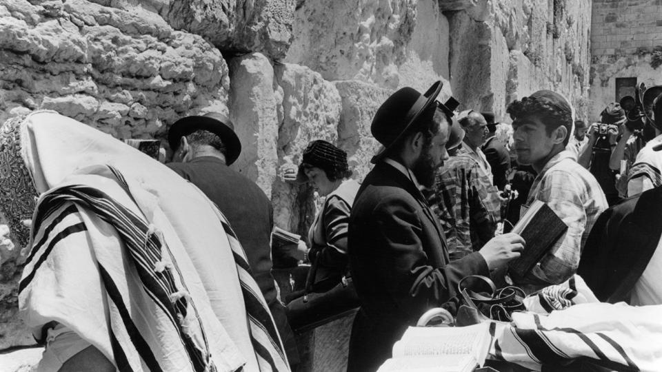 Jewish people at the Wailing Wall for the first time after its capture during the Six Day War in 1967. Israel claims all of Jerusalem as its capital, while the Palestinians claim the eastern sector, captured by Israel in 1967, as the capital of a future independent state. These rival claims lie at the heart of the decades-long conflict. While Israel controls the city and its government is based there, its annexation of east Jerusalem is not internationally recognized. (Terry Fincher / Getty Images)