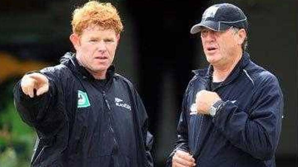 James Pamment (L) was appointed as the new Mumbai Indians fielding coach for IPL 2018.