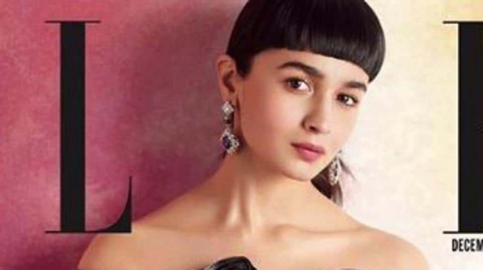 Actor Alia Bhatt on the digital cover of fashion magazine, Elle. So what do you think? Is a blunt bang worth it?