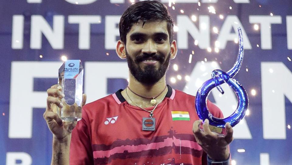Kidambi Srikanth claimed the fourth spot in the latest badminton rankings.