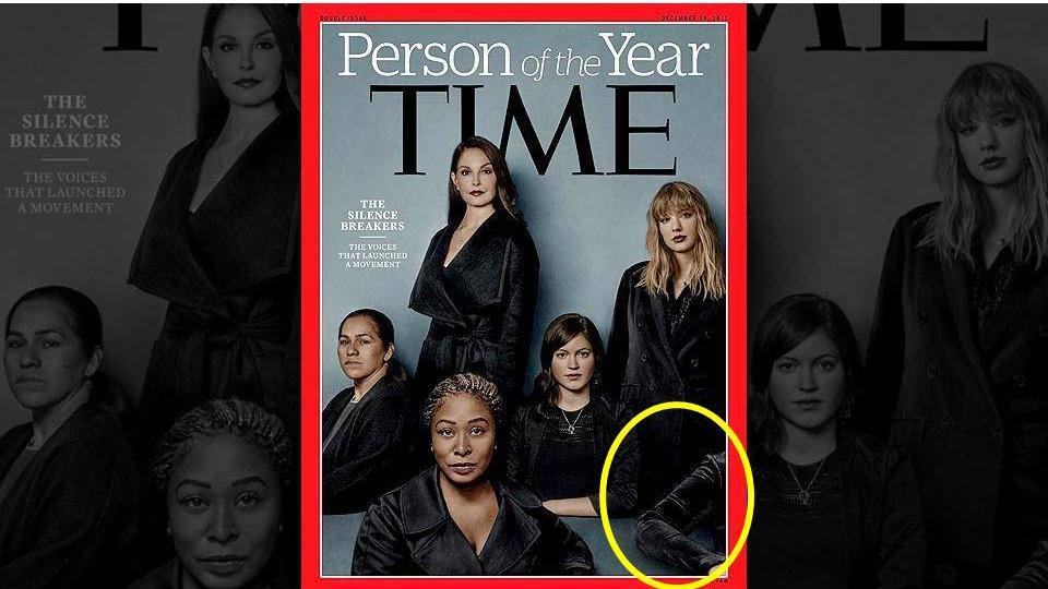 """The cover of Time magazine's annual """"Person of the Year"""" issue unveiled on Wednesday packs a subtle yet powerful message."""