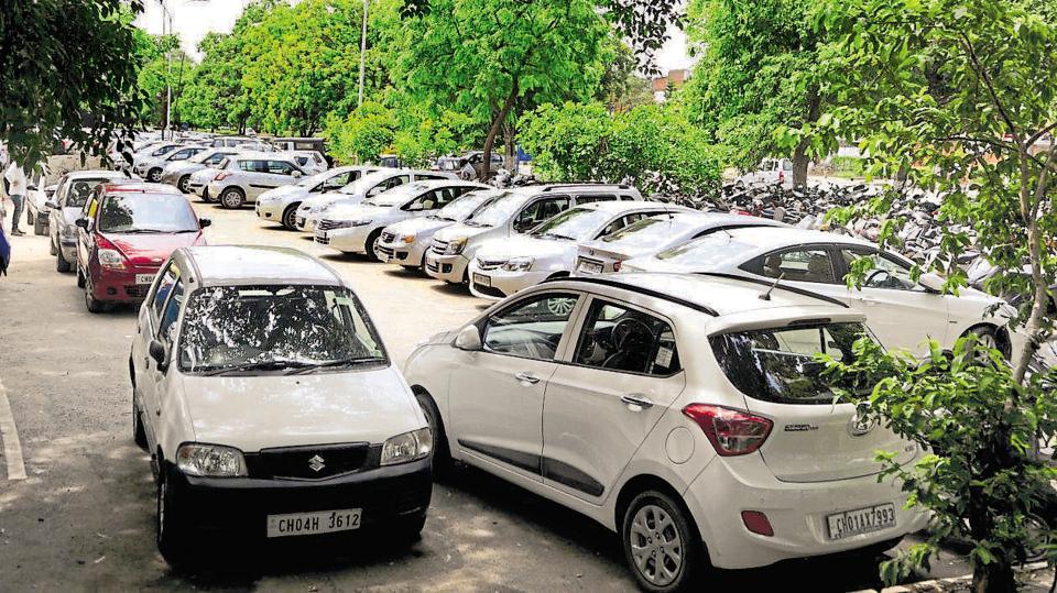 Chandigarh news,chandigarh parking,PArking