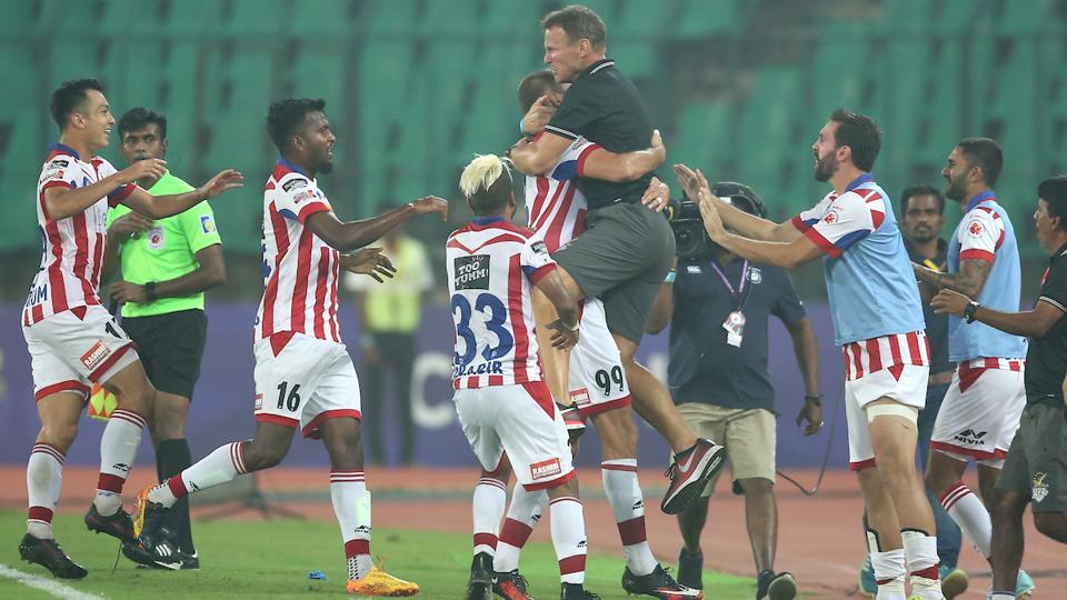 Njazi Kuqi then equalised in the 89th minute for ATK. (ISL)