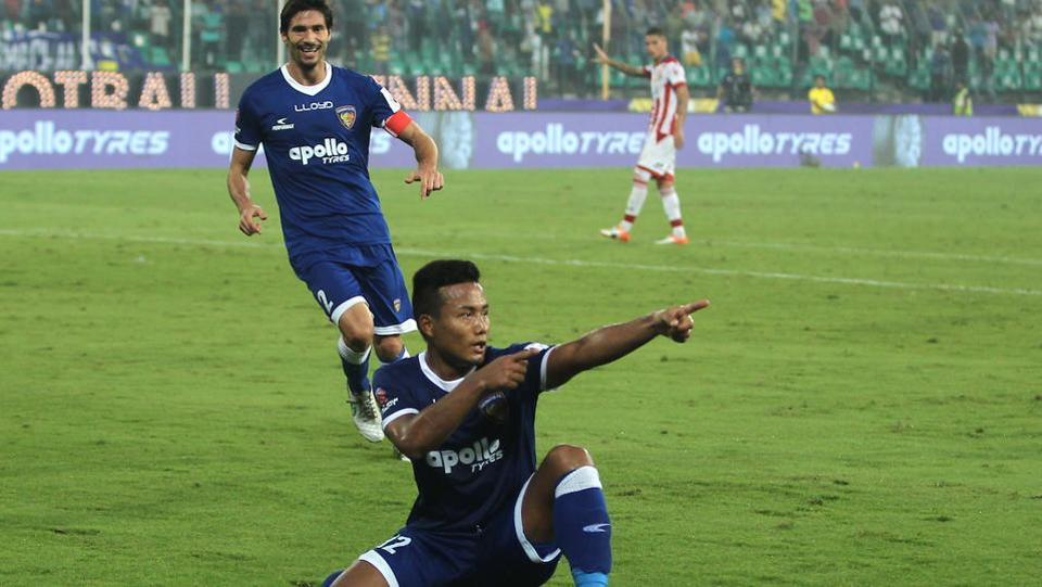 Jeje broke the deadlock after the hour mark to put Chennaiyin ahead. (ISL)