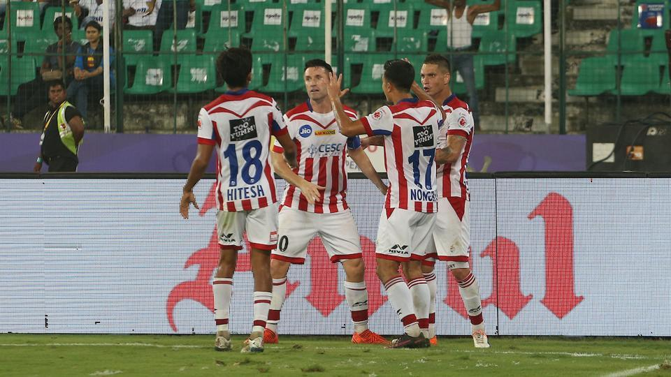 Zeqinha equalised for ATK in the 77th minute, making the score 1-1. (ISL)