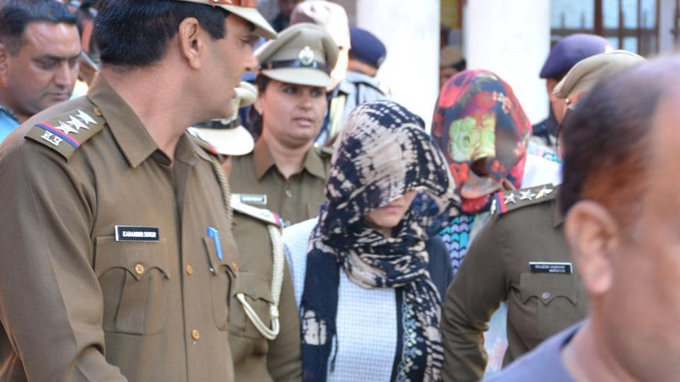 Honeypreet Insan being produced in Panchkula court On Thursday.