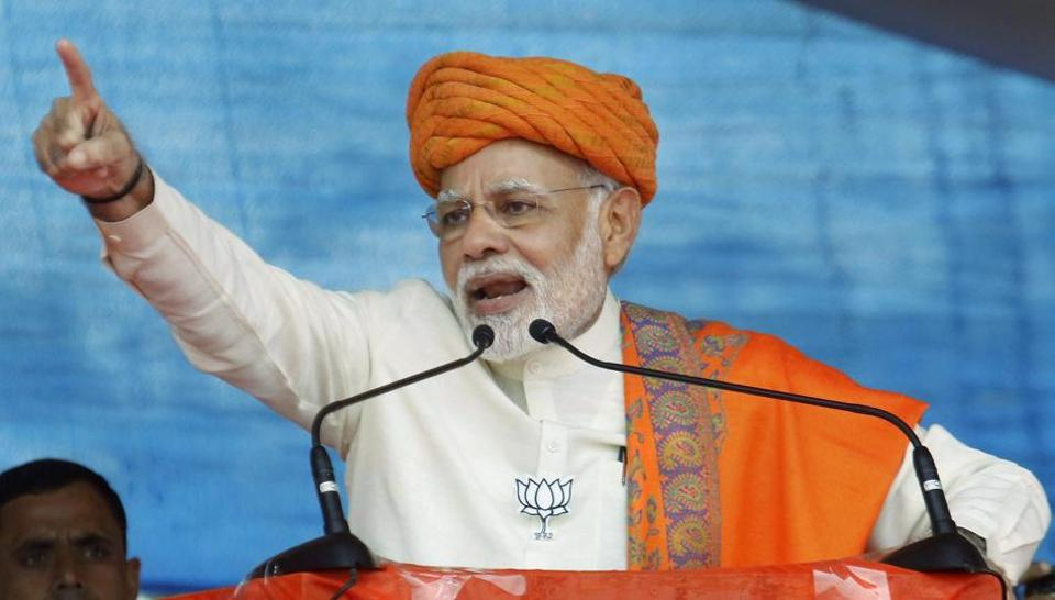 Prime Minister Narendra Modi  alleges the Congress  wanted to erase the contributions of Dr BR Ambedkar, the architect of the Indian constitution.