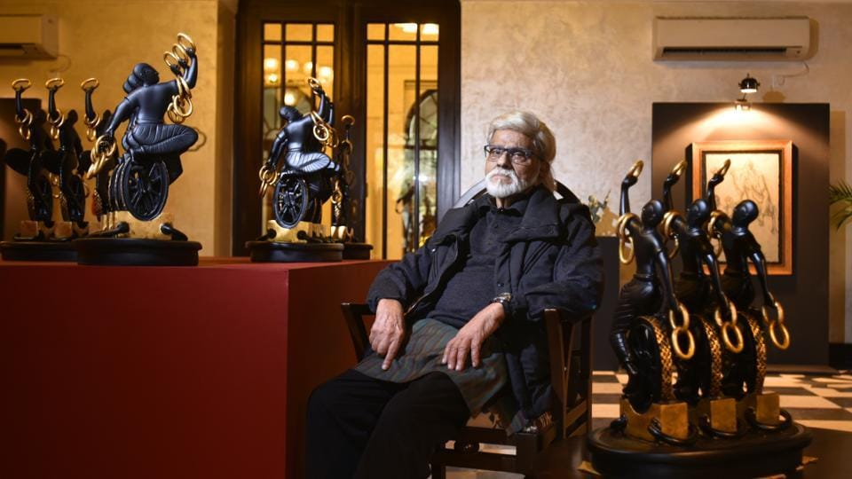 Satish Gujral's sculpture unveiled at Delhi's Bikaner House