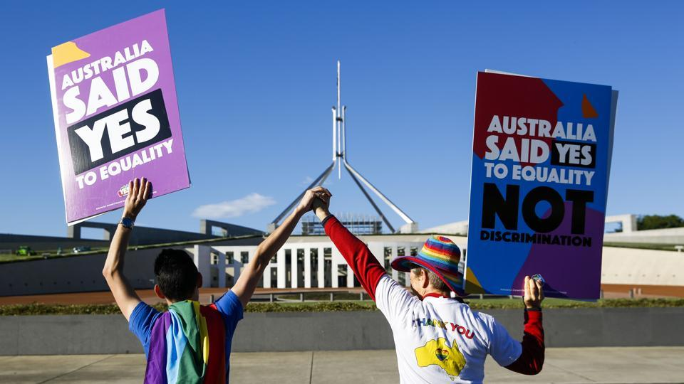 Gay marriage,LGBTQ rights,Australia legalises gay marriage